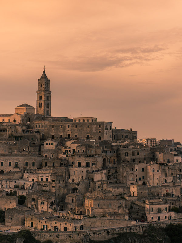 Matera al tramonto - Basilicata